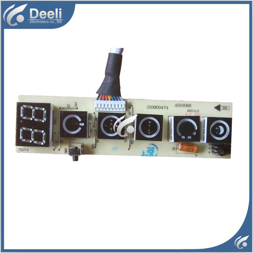 95% new used good working for TCL Air conditioning display board remote control receiver board plate 210900474 A010068<br>