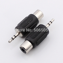 Free shipping High Quality 2.5mm audio plug to RCA socket 2.5 plug to RCA Adapter 10pcs/lot
