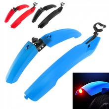 MTB Bicycle Fender Mountain Bike Front Rear Quick Release Cycling Fender Wings Mud Guard Bike Parts Warn Taillight