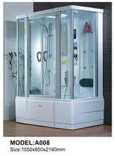 Computerized Tempered Glass Bath Shower Room Enclosure