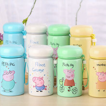Vacuum Flasks Cup Cute Pig Child Drink Cup Milk Thermos Girls Insulated Drinking Thermoses Stainless Steel Thermal Bottles(China)