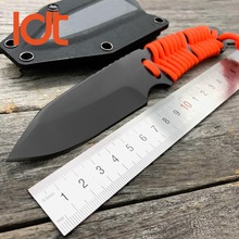 LDT Tactical Fixed Knife 5Cr18Mov Blade 5Cr18Mov Handle Plating Titanium Knife EDC Survival Tools Camping Hunting Pocket Knives