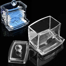 NC Clear Cotton Swab Stick Bud Ball Cotton Pad Storage Holder Acrylic Make up Organizer Box Cosmetic Makeup Case Container