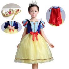 children cosplay dress princess snow white girl dress halloween party costume children clothing sets kids clothes girls dresses