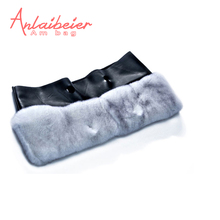 ANLAIBEIER Plush trim for Classic big obag O bag Plush Decoration Rabbit fur Rex Rabbit Raccoon Fox Fur for Big AM bag body(China)