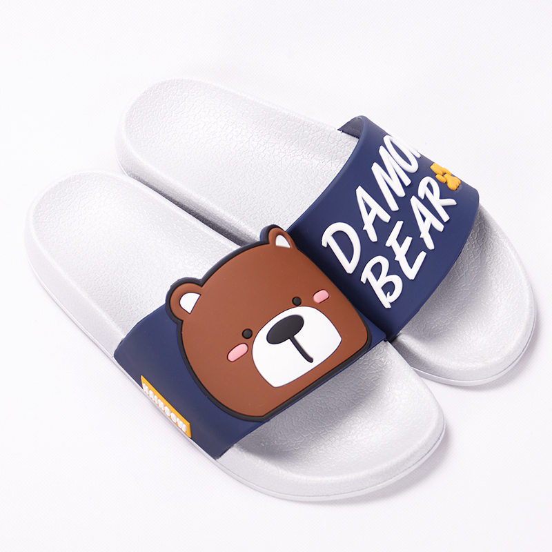 Cartoon Women Summer Slippers Cute Damon Bear Soft Sole Slides Home Slippers Indoor & Outdoor Sandals Women Shoes Flip Flops 19