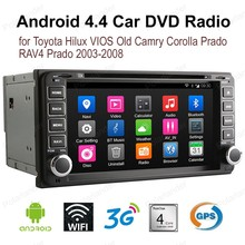 Android4.4 7 inch Car DVD For T/oyota H/ilux V/IOS Old C/amry C/orolla Pr/ado R/AV4 Pr/ado 2003-2008 2 din FM AM GPS radio(China)