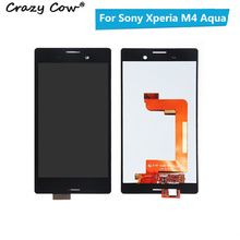Crazy Cow New Tested For Sony Xperia M4 Aqua E2303 E2353 E2333 LCD Screen With Touch Display Digitizer Assembly Replacement