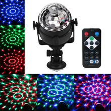 Mini RGB LED Crystal Magic Ball Stage Effect Lighting Lamp Bulb Sound Activated Projector Party Disco Club DJ Light Show Lumiere(China)
