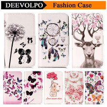 DEEVOLPO Fashion Lady Wallet PU Leather Case for Huawei Y5 II Y6 II P8 lite 2017 Mate 9 Nova Stand Flip Cover Funda DP37(China)