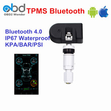 Car TPMS Bluetooth 4.0 Display APP Android/IOS Tire Pressure Monitor System 4 Internal Sensor TPMS Tool Waterproof KPA Function