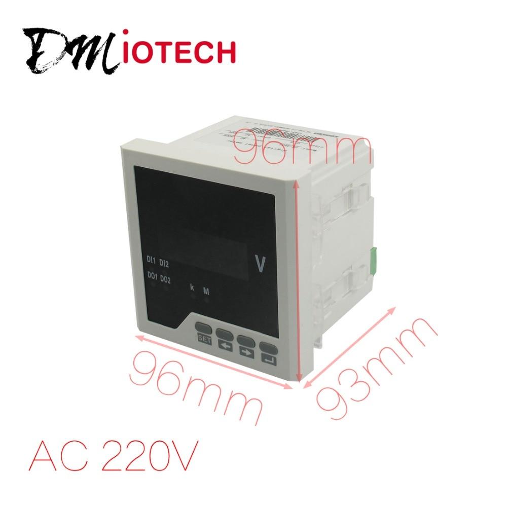 -9999 to 9999 220V Plastic Housing Voltage Panel Meter Gauge 96 x 96mm<br>