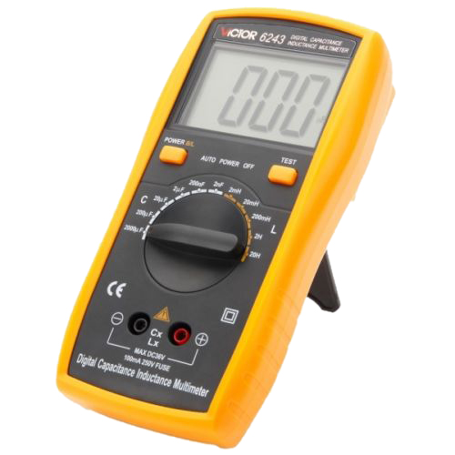 LIXF VICTOR VC6243 Digital LCR Multimeter with LCD Display yellow &amp; Black<br>