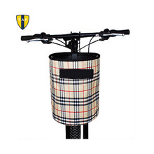 Bicycle Baskets Cycling Bag Front Tube Bag for Bike Folding Basket Plaid Para Bcicletas Cycling Bag Panniers(China)