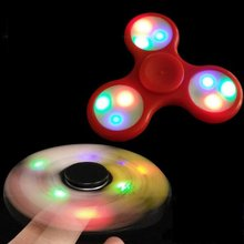 Original Spinner Colorful LED Light Hand Finger Spinner Funny For Autism and ADHD Finger Spinner Toy Relief Anti Stress Gift Toy