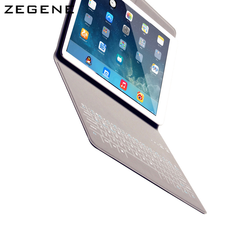 Case For iPad AIR / AIR2 portable protective cover 9.7-inch universal ultra-thin cases covers with Bluetooth keyboard for Ipad<br>