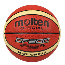 Molten Basketball Ball GF200 Size 7 PU Leather Basket Ball For Outdoor Basketball Game&Training Free With Ball Net Mesh+Needlle(China)