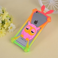 Universal Cartoon Anti-knock shell silicon material mobile phone lanyard case Cover for Samsung Galaxy S4 S5 S6 S7 Active S3 4(China)