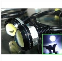 waterproof 2012 update 9W Ultrathin DIY LED Car Lights With screws Aluminum Silver housing use as Backup Light Eagle Eye LED DRL