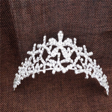 Vintage Fairy Crown Flower Rhinestone Prom Queen Crown Crystal Bride Quinceanera Tiaras Bridal Head Jewelry Pageant Wedding