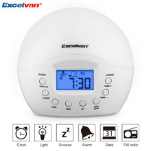 Excelvan Digital FM Radio Clock Alarm Clock with FM Radio Wake-Up Light with Sunrise Simulation with Snooze Function(China)