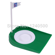 "Free Shipping hole sale Golf Regulation Size Rubber Putting Cup 4 1/4"" Hole with Flag Hot Sale(China)"
