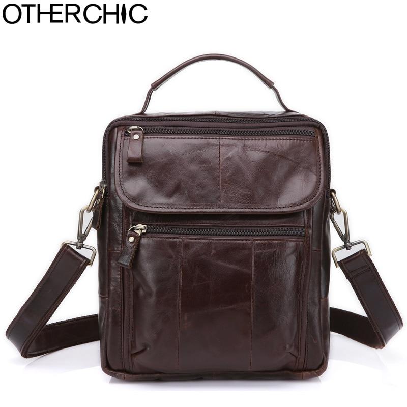 OTHERCHIC Genuine Leather Roomy Men Bags Brand Designer Handbags Shoulder Vintage Cow Crossbody Bag Men Messenger Bags 7N04-23<br>