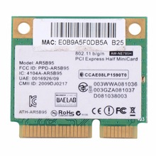 Laptop Network Cards AR5B95 AR9285 WiFi Half Mini PCI-E Wireless Card 518436-002 Notebook Computer Network Cards VCA66 P51