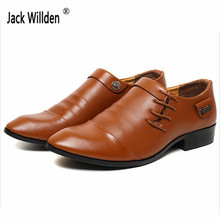 Jack Willden Fashion Mens Leather Dress business Shoes Man casual Flats Men's Drive Party Office & Career Lace-Up Splice Shoes