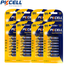 64Pcs(8Pc/Card)PKCELL AAA R03P (1.5v) Zinc Carbon Batteries (also known as UM4, MN2400,3A) 45min 2years life time(China)