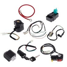 Electric Wire Wiring Harness CDI Coil Assembly For 50-110CC 125CC ATV Quad Buggy Ignition Car Electronics(China)