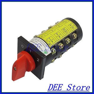 AC 380V 10A Self Locking Three Position Cam Combination Changeover Switch Otvsi<br><br>Aliexpress