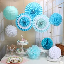 9Pcs Party Decoration Kit/Set Tissue Paper Honeycombs/Paper Fans/Tissue Paper Pom Poms/ paper lantern Birthday Wedding Party