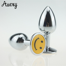 AUEXY Small Stainless Steel vibrator Anal Plug Butt Plug Metal Anal Sex Toys For Men Gay Sex Products For Men(China)