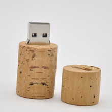 8GB 16GB 32GB 64GB Wine Bottle Stopper Wood Cork USB flash memory Card Pen drive