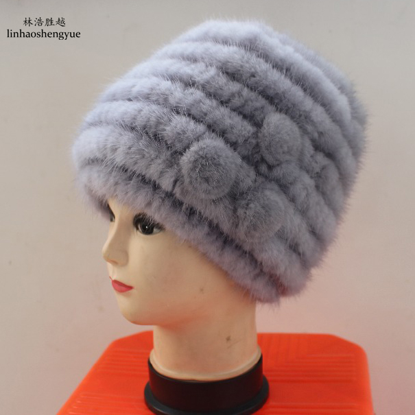 Linhaoshengyue 2017 spring autumn winter Natural fur fashion lady mink hat Îäåæäà è àêñåññóàðû<br><br>