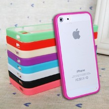 Candy TPU Silicone Bumper Frame Clear Hard Back Case Cover Skin for iPhone 5 5S SE 6 6s Plus 7 Plus(China)