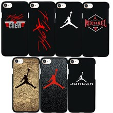 Brand NEW Hard Plastic Jordan Flight Logo Case for iPhone 7 Fashion Phone Cover Coque for iPhone 6 6s Plus 7Plus 5 5s SE Capa(China)