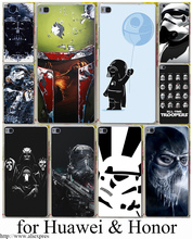 Star Wars Hard Transparent Case Cover for Huawei P6 P7 P8 P9 Lite Plus & Honor 6 7 4C 4X G7 Case Cover