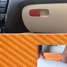 For Skoda Octavia A7 Car Store Content Box Handle Carbon Fiber Sticker Auto Accessories 4pcs Car-Styling Decoration Stickers