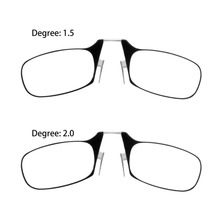 2017 Easy Carry Clip Nose Reading Glasses Men Women Mini Spin Optics Presbyopic Glasses with Ultra Thin +1.5+2.0 Reading Glasses