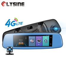 "Olysine 4G Car DVR 7.86"" Touch ADAS Android Rearview Mirror Dual lens GPS Video Recorder 1080P Car Camera WiFi Registrar Dashcam(China)"