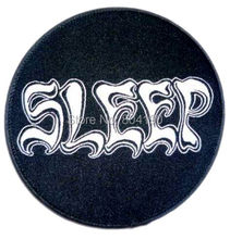 "3"" Sleep logo Music Band Iron On/Sew On Patch holy mountain dopesmoker Tshirt TRANSFER MOTIF APPLIQUE Rock Punk Badge Wholesale(China)"