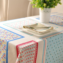 2016 Direct Selling New European-style Garden Fresh Cotton Wedding Tablecloths Printed Plaid Table Cloth Cafe Table Clothparty