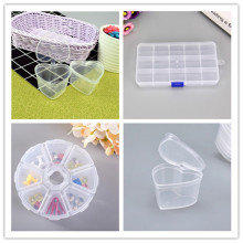 Modern Multi-grid Transparent Storage Box Jewelry Toys Buttons Sundries Medicine Organizer Plastic Storage Box drop shipping(China)