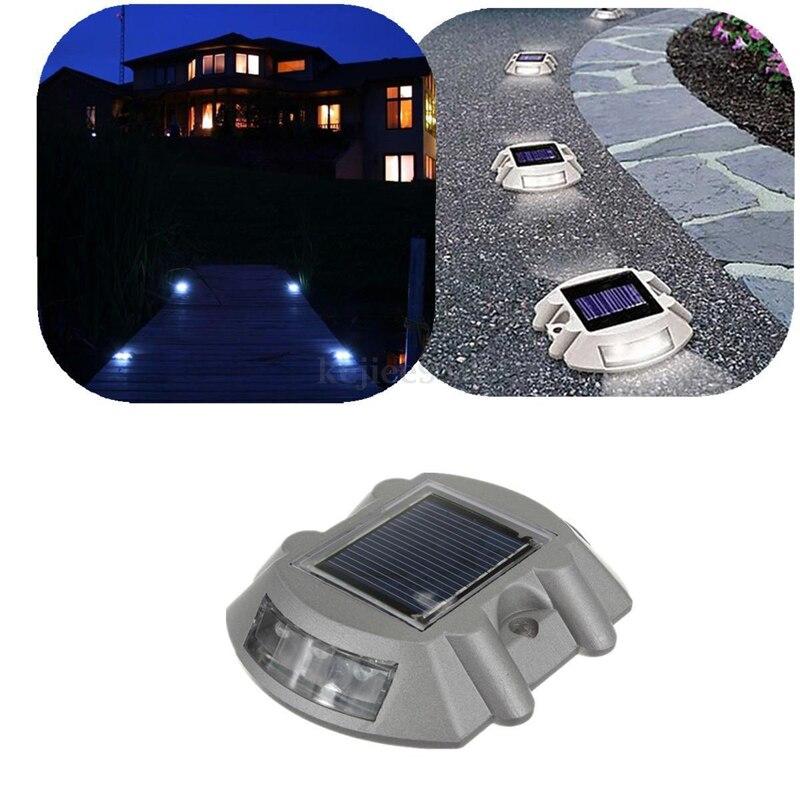 LED Solar Road Marker Solar Pavement Marker Warning Light In Highway School Gate Courtyard Door Garage Door DALLAST<br>