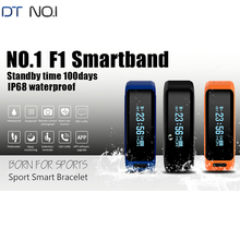 Original NO.1 F1 Smartband Smart Wristbands Sport Band Intelligent Bracelet Calls Reminder Heart Rate Monitor IP68 Waterproof