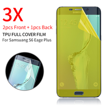 Full Screen Protector for Samsung Galaxy S6 Edge Plus S7 Edge Front And Back Clear Protective TPU Film 2F+1B +Case