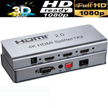 4KX2K HDMI 2.0 Splitter amplifier RS232&EDID control 1X2,1X4,1X8 with power supply(China)