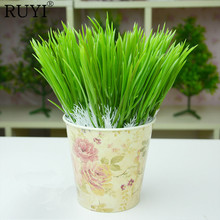 20pcs/lot Plastic Flowers Fake Grass Simulation Leek Artificial Green Plant Home Decoration Flowers